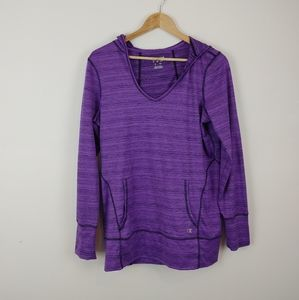 CHAMPION | Purple Jersey Hoodie Ladies Medium